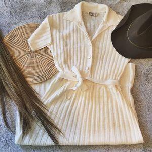 Vintage white midi dress